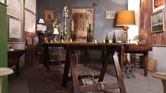 LEFORUMDESANTIQUAIRES#TABLE-TRETAUX-FERME#LAMPADAIRE#BOIS-DORE#DECORATION-CHARME#TOULOUSE-min