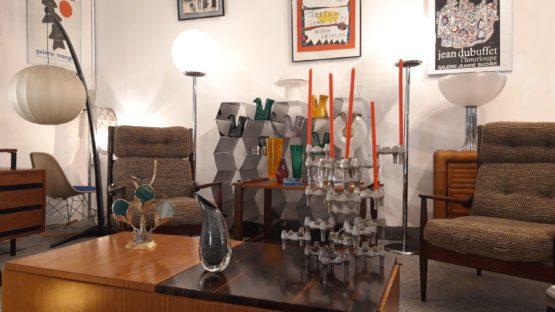 LEFORUMDESANTIQUAIRES-LAMPE MANTE RELIGIEUSE-RISPAL-MOBILIER DESIGN-VINTAGE-VERRERIE ITALIE-SCANDINAVE-TOULOUSE-min